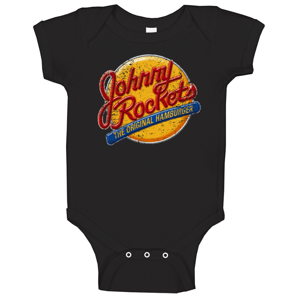Johnny Rockets Logo Popular Famous Burger Restaurant Food Fan Gift Baby One Piece