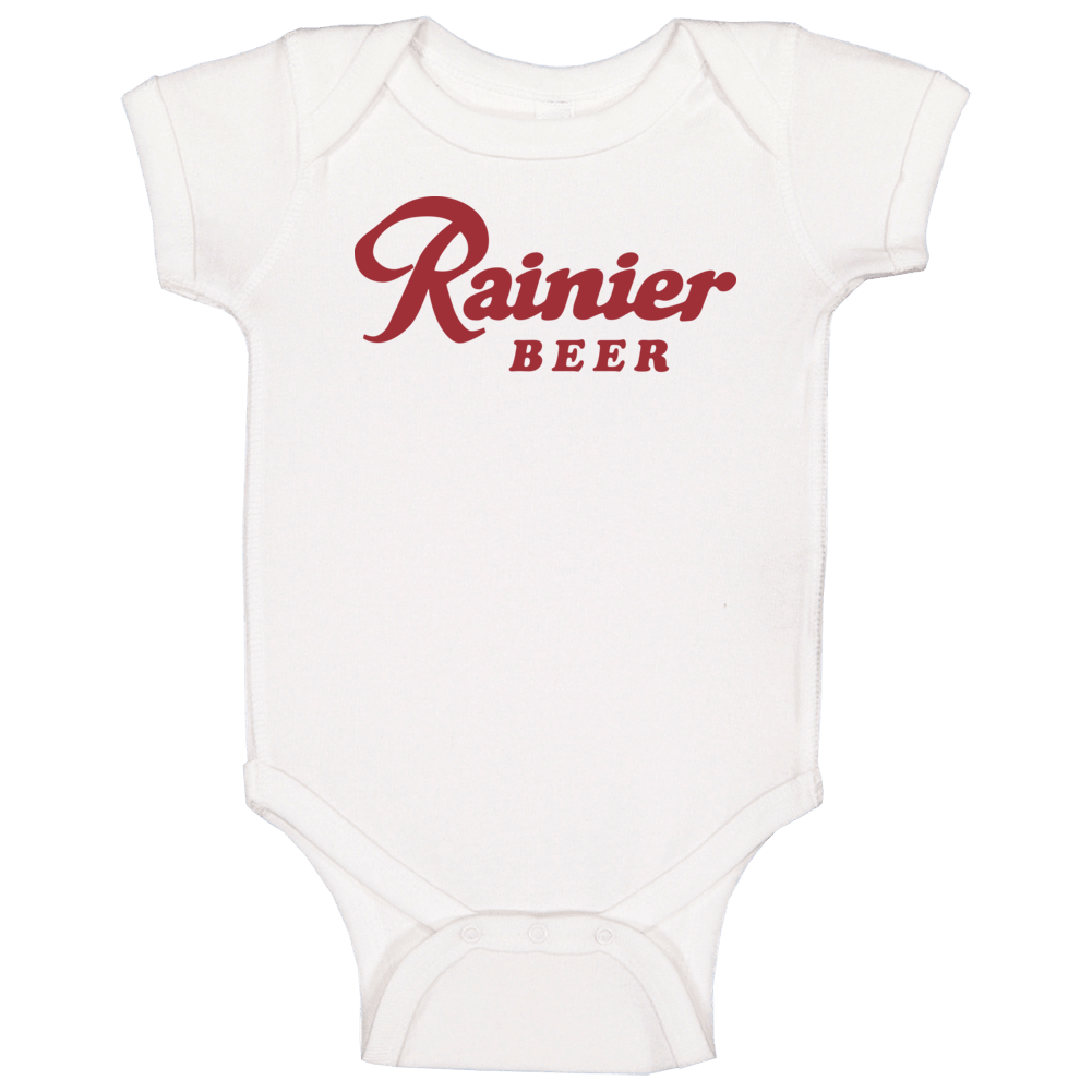 1970's Seattle Rainier Beer Logo Label Retro Classic Baby One Piece