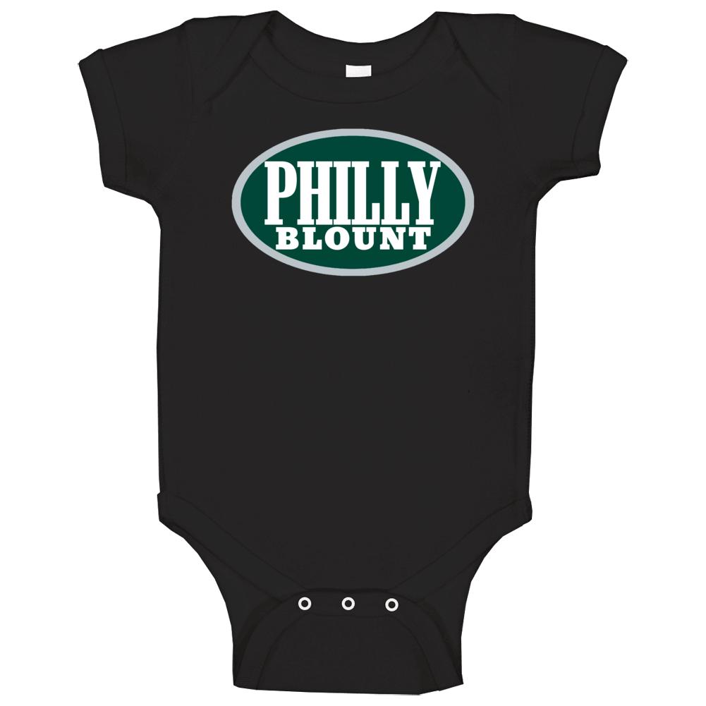 Philly Blount Legarrette Philadelphia Football Blunt Logo Parody Baby One Piece