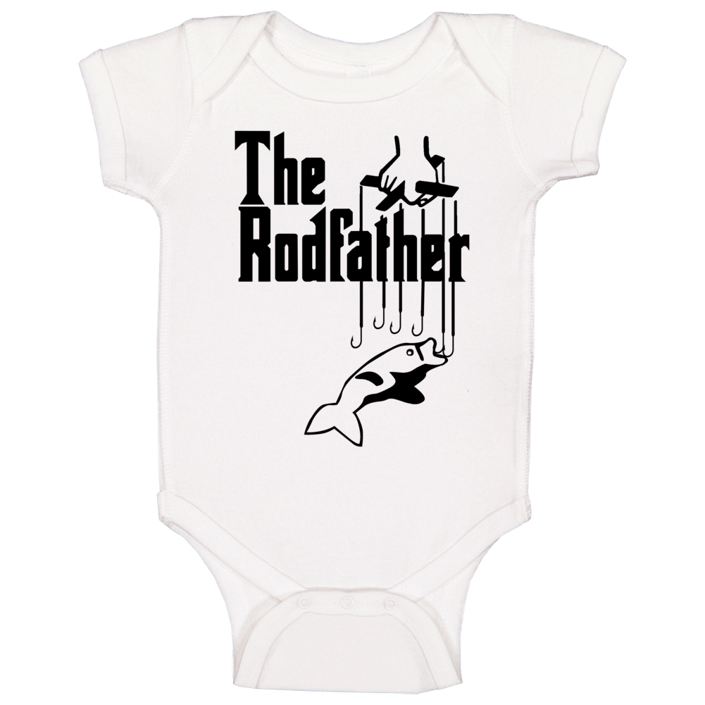 The Rodfather Funny Fishing Baby One Piece