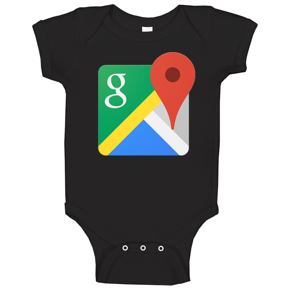 Google Maps App Halloween Unisex Baby One Piece