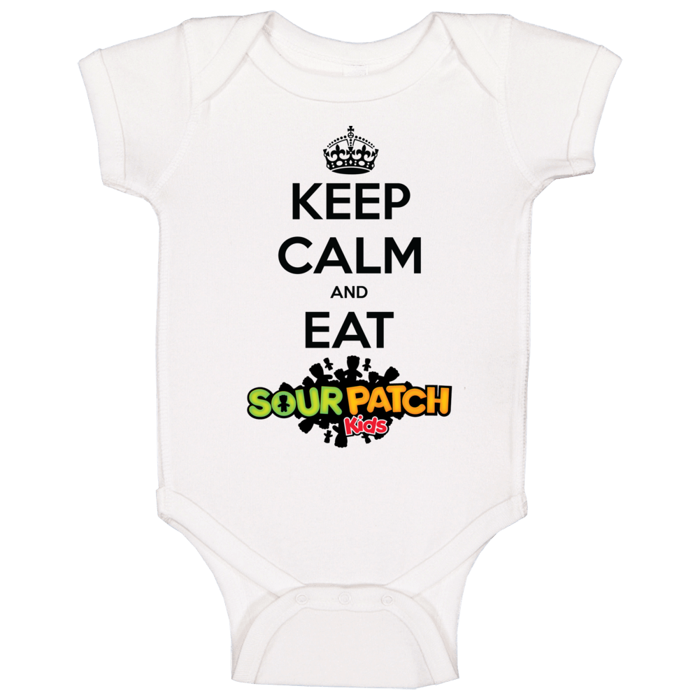 Keep Calm And Eat Sour Patch Kids Candy Baby One Piece