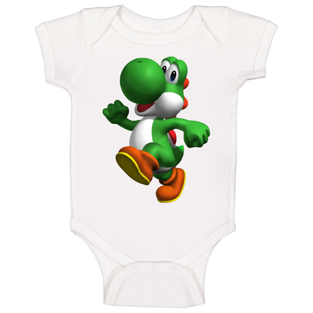 Yoshi Super Mario World Video Game Character Baby One Piece