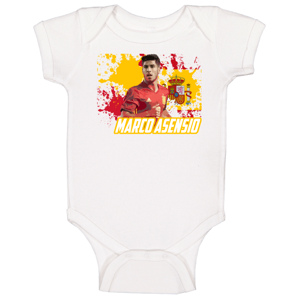 Marco Asensio Spain Football World Cup Soccer Fan Baby One Piece