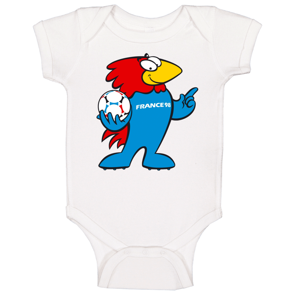 Footix France 1998 World Cup Mascot Fan Baby One Piece