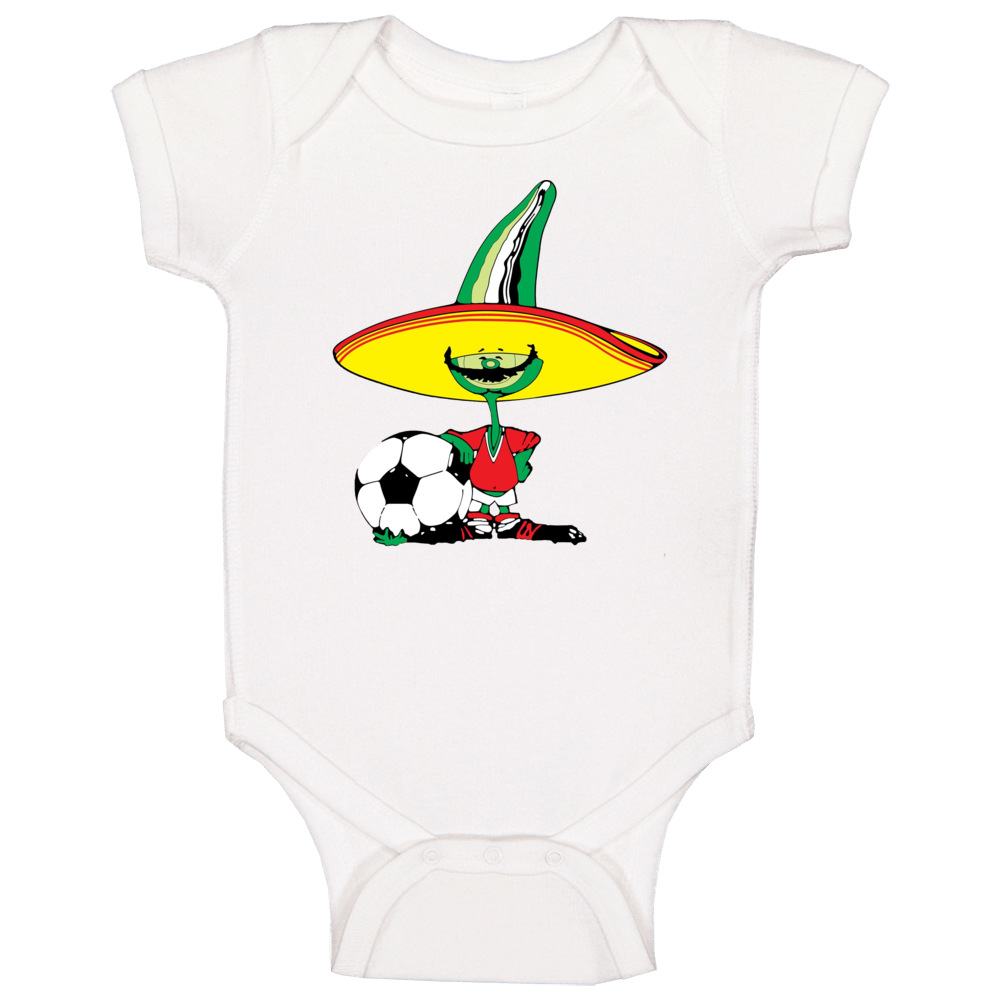 Pique Mexico 1986 World Cup Mascot Fan Baby One Piece