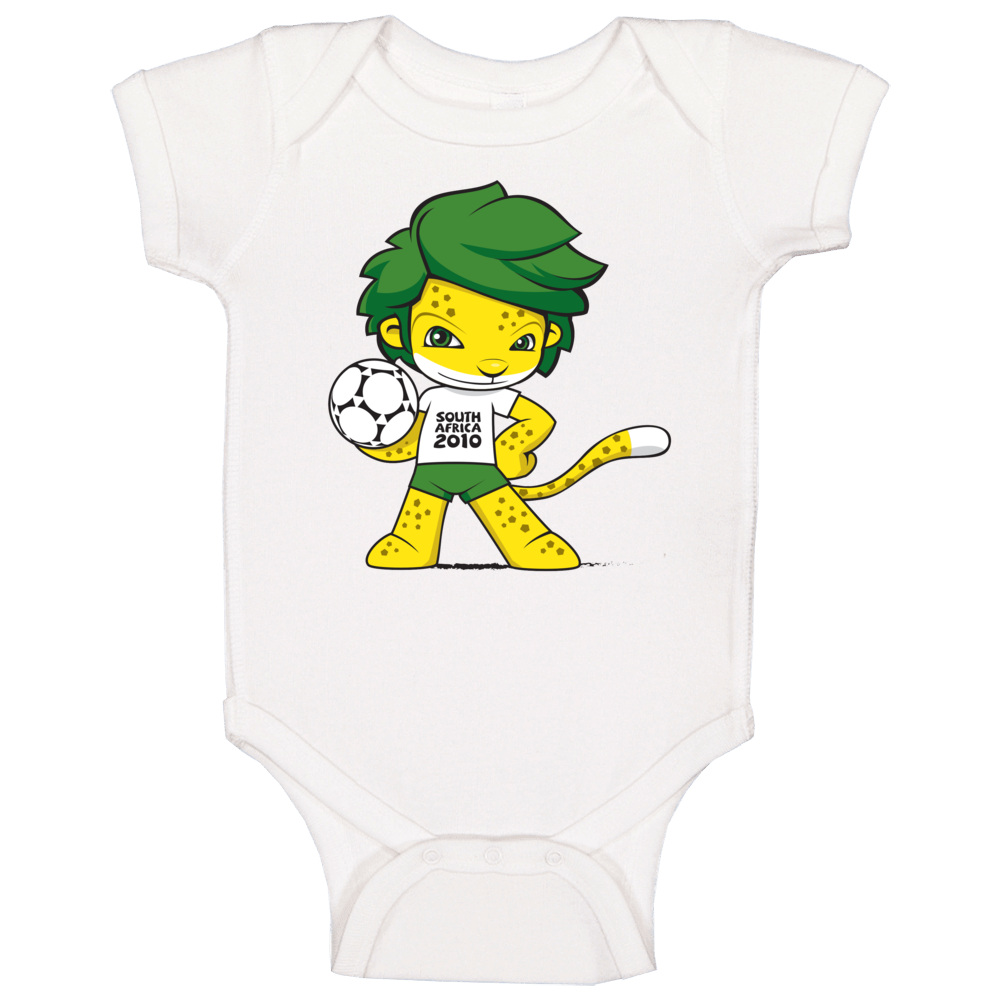 Zakumi South Africa 2010 World Cup Mascot Fan Baby One Piece