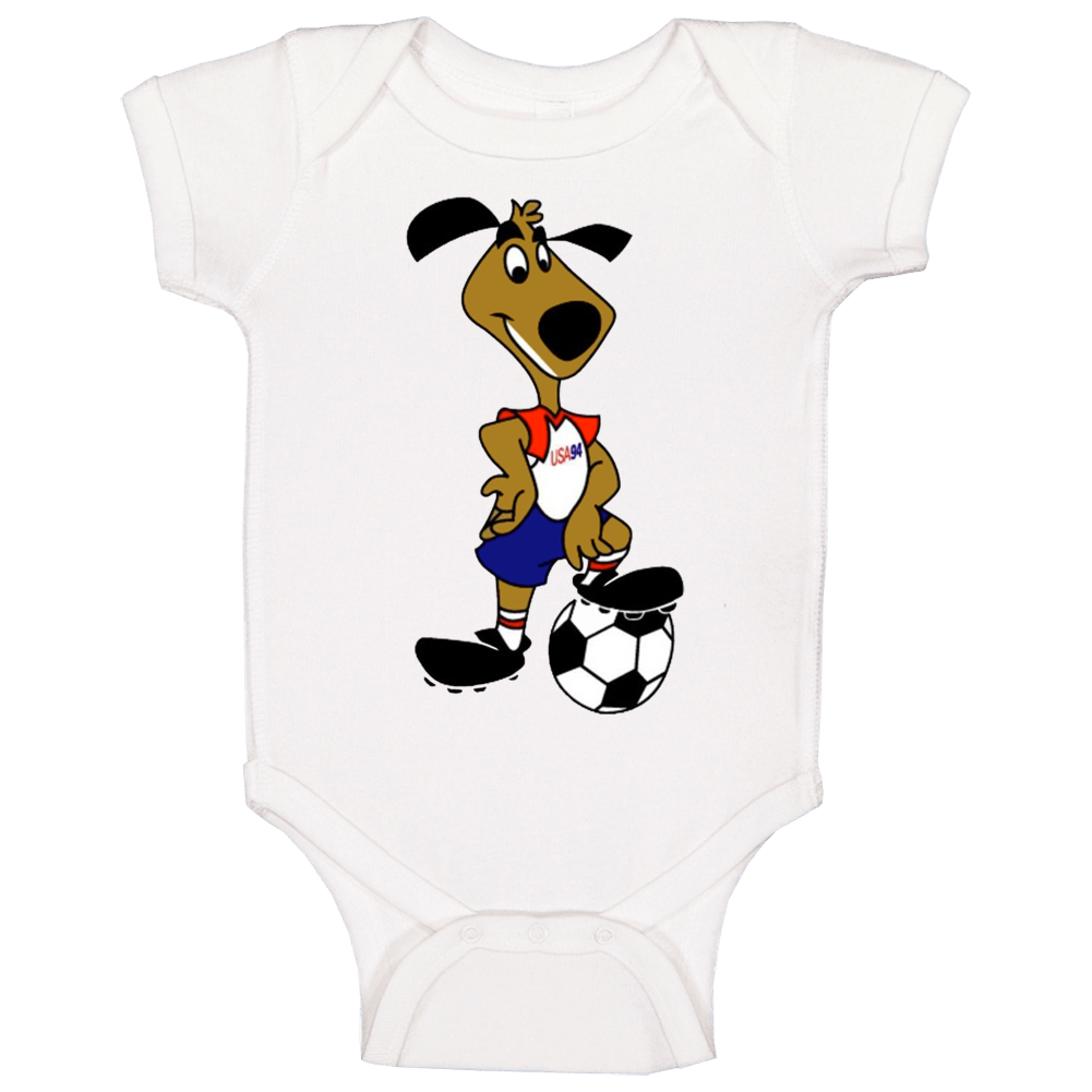 Striker The World Cup Pup United States 1994 World Cup Mascot Fan Baby One Piece