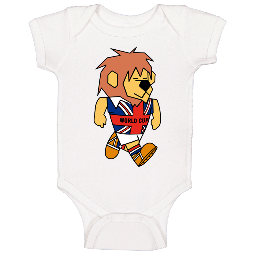 World Cup Willie England 1966 World Cup Mascot Fan Baby One Piece