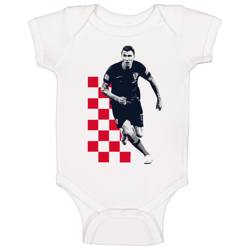 Mario Mandzukic Croatia World Cup Soccer Football Futbol Player Fan Baby One Piece