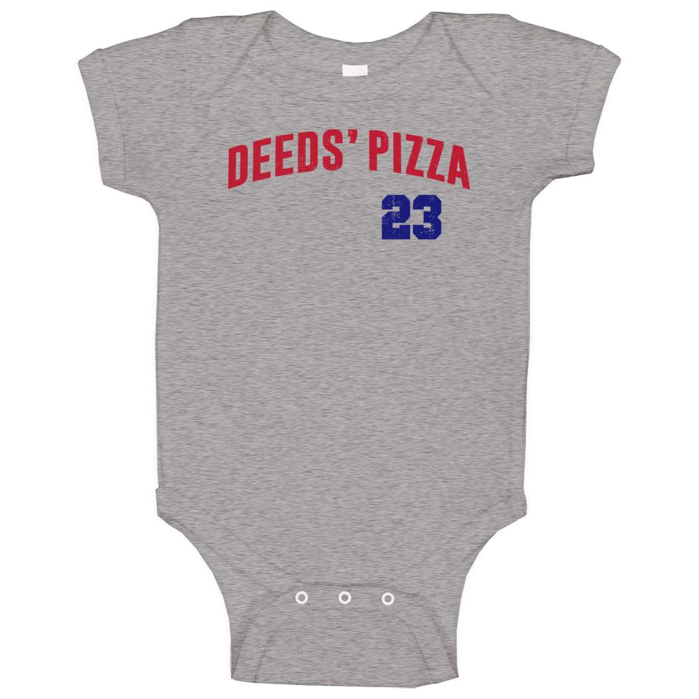 Mr Deeds Pizza Adam Sandler Pizzeria Movie Restaurant Comedy Fan Baseball Raglan Baby One Piece