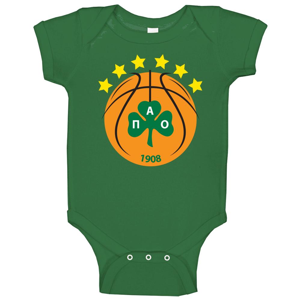 Panathinaikos Bc Greek Athens Basketball Club Team Fan Baby One Piece