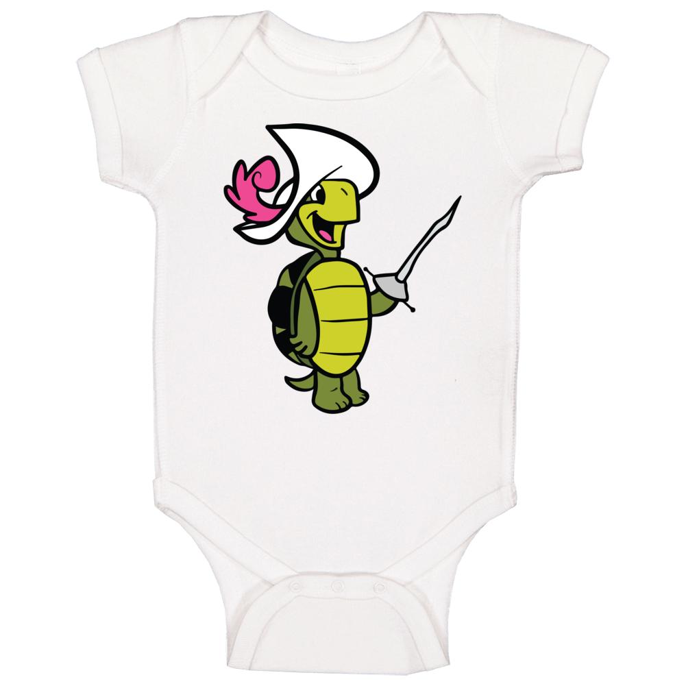 Touche Turtle Hanna Barbera Cartoon Poster Fan Baby One Piece