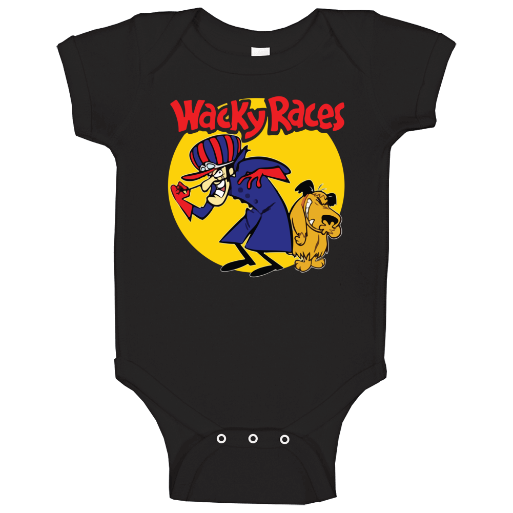 Wacky Races Boy And Dog Hanna Barbera Cartoon Poster Fan Baby One Piece