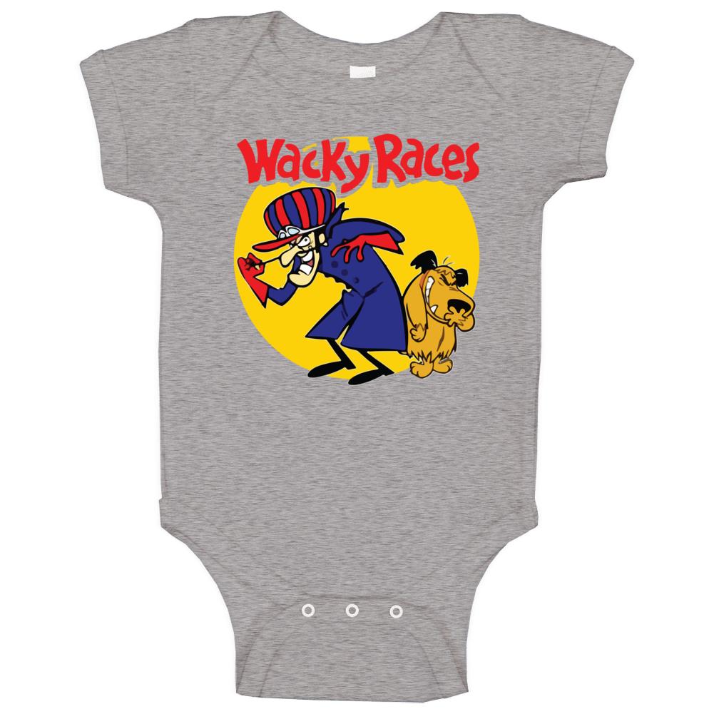 Wacky Races Boy And Dog Hanna Barbera Cartoon Poster Fan Raglan Baby One Piece