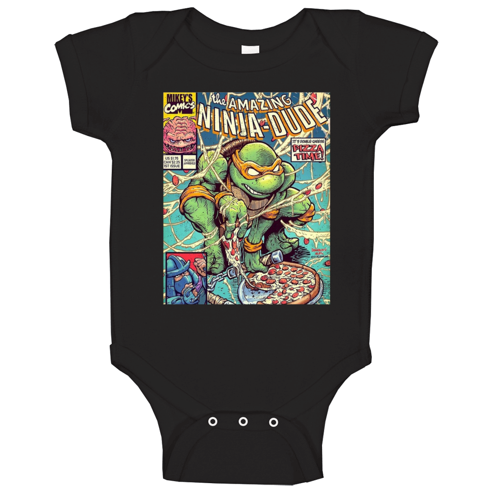 The Amazing Ninja Dude Teenage Mutant Ninja Turtles Distressed Look Comic Baby One Piece