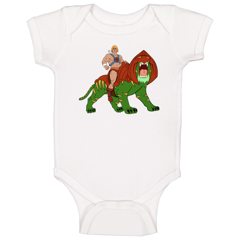 He-man And Battlecat Masters Of The Universe Favorite Characters Fan T Baby One Piece