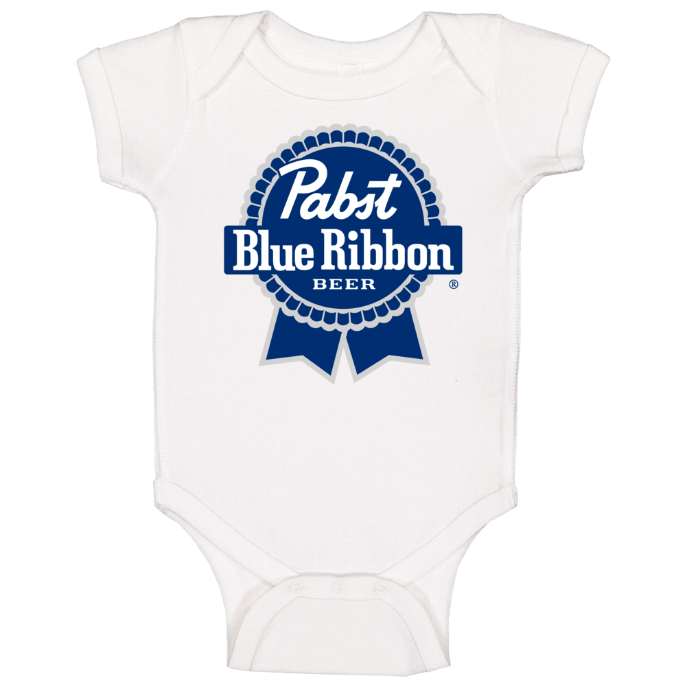 Pbr Pabst Blue Ribbon Beer Logo Baby One Piece