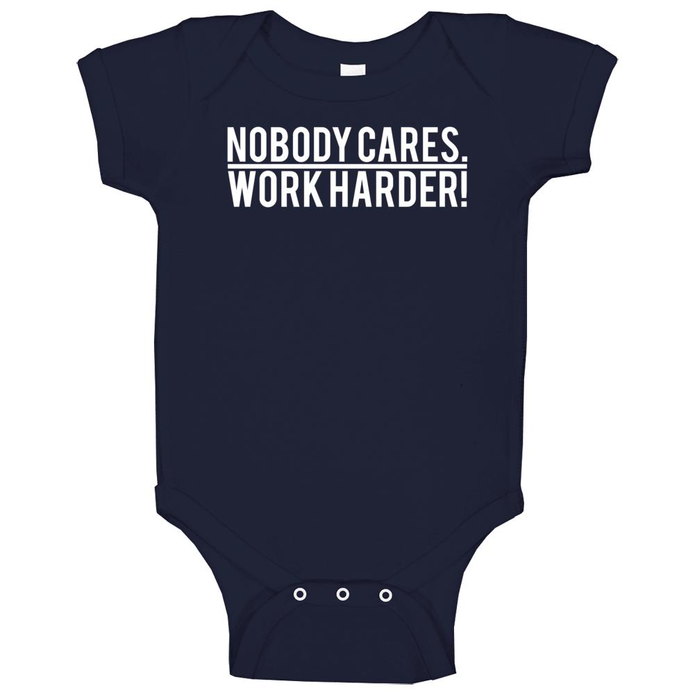 Nobody Cares Work Harder Lamar Jackson Baltimore Football Baby One Piece