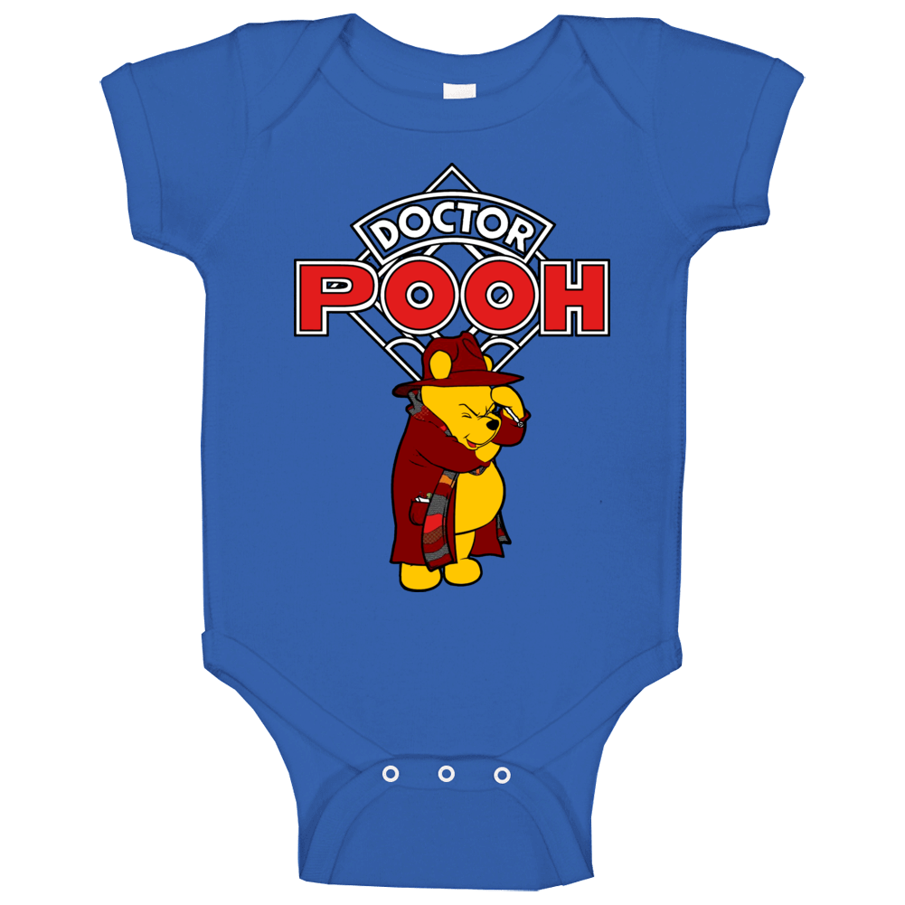 Dr Pooh Funny Who Bear Parody Baby One Piece