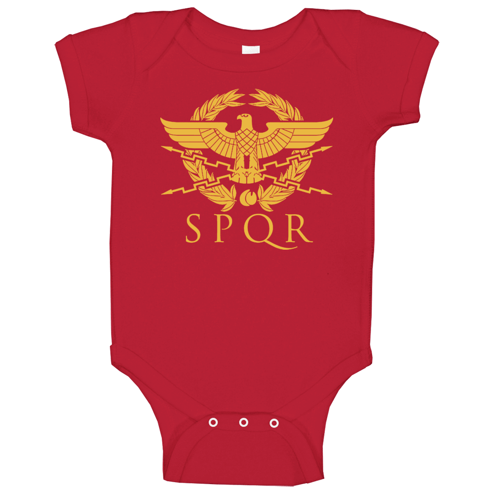 Spqr Eagle Rome Latin Cool Retro Baby One Piece
