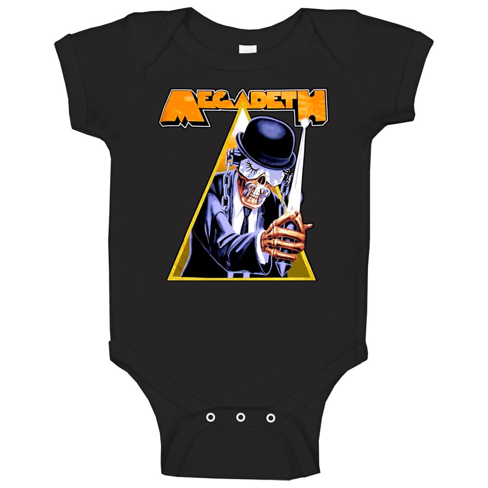 Megadeth Metal Rock N Roll Clockwork Orange Retro Baby One Piece