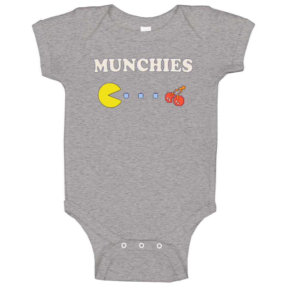 Munchies Pac Man Funny Drillbit Taylor Movie Baby One Piece