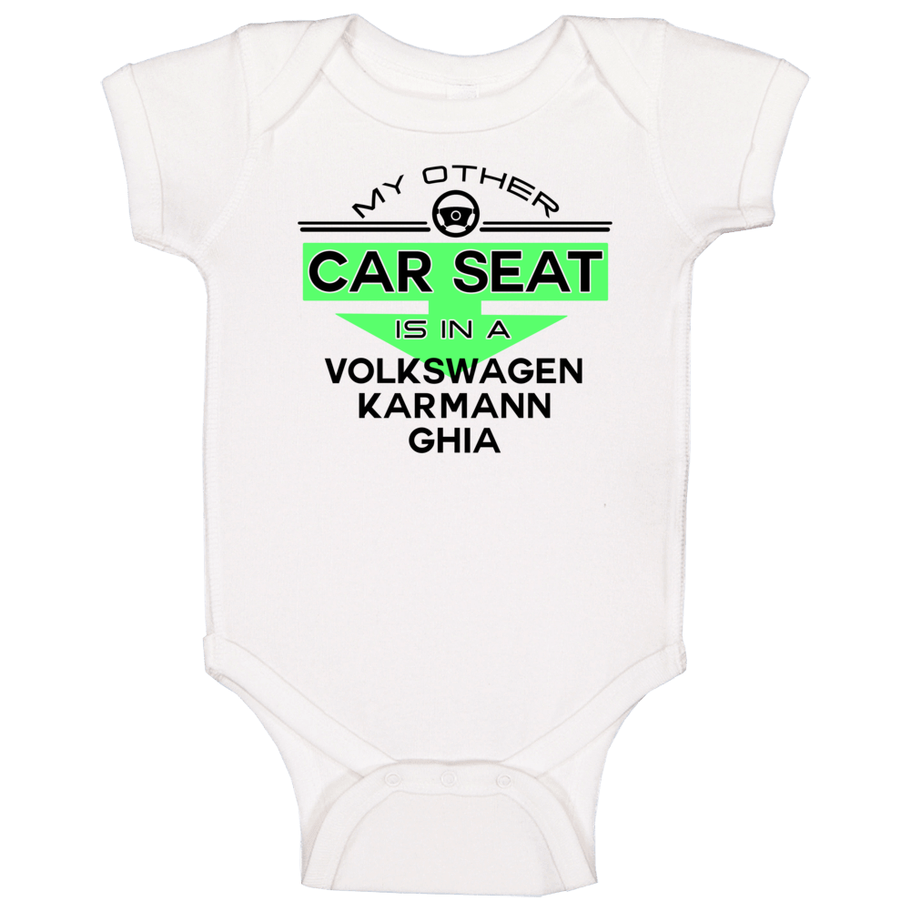 Car Seat In A Volkswagen Karmann Ghia Funny Kids Car Baby One Piece