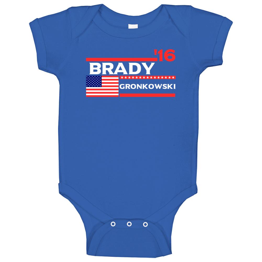 Brady Gronkowski New England For President 2016 Football Election Parody Baby One Piece