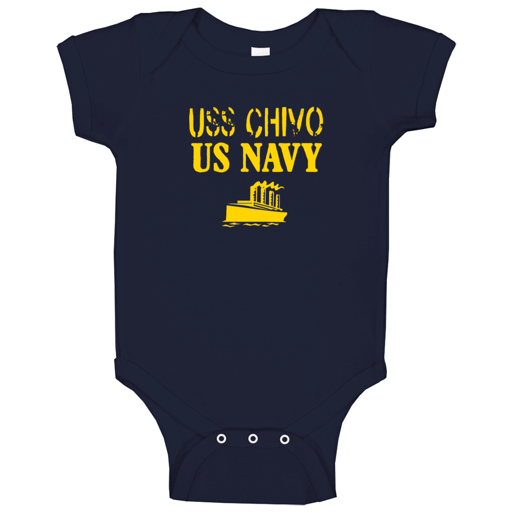Uss Chivo Us Navy Ship Crew Baby One Piece