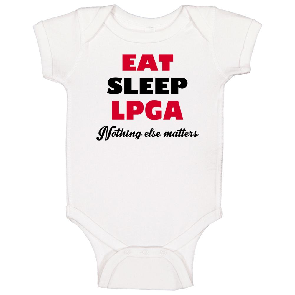 Eat Sleep Lpga Popular Golf Terms Golf Fan Baby One Piece