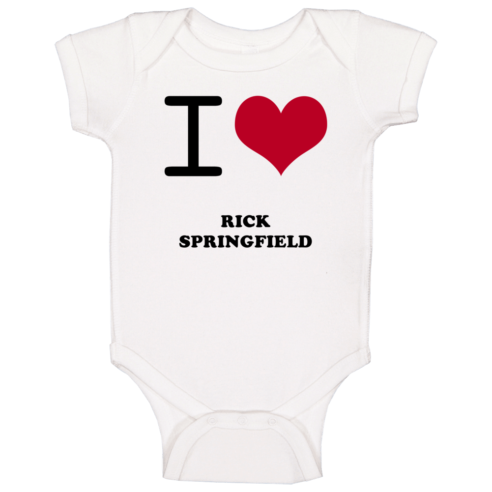 I Heart Rick Springfield Hollywood Walk Of Fame Baby One Piece