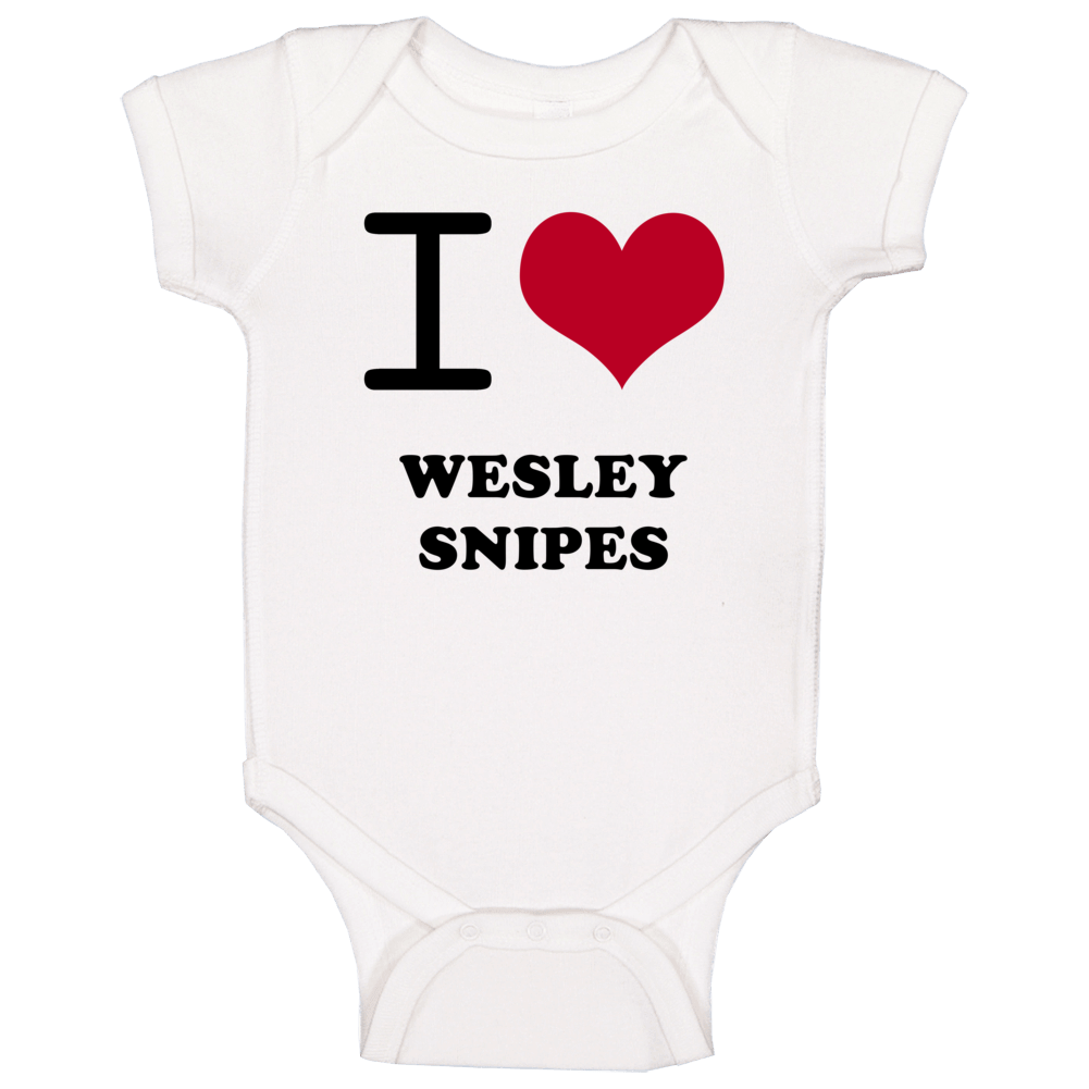 I Heart Wesley Snipes Hollywood Walk Of Fame Baby One Piece