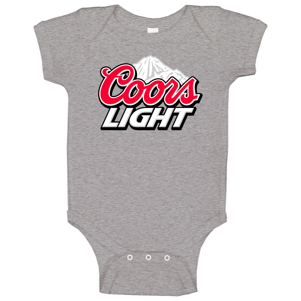 Coors Light Beer Cool Mountain Logo Baby One Piece