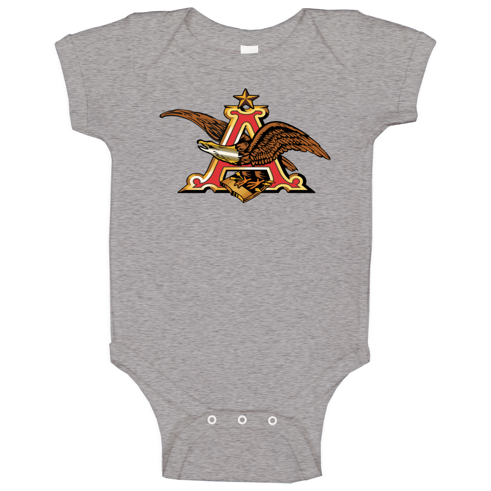 Anheuser Busch Beer Brewery Cool Alcohol Logo T Shrit Baby One Piece