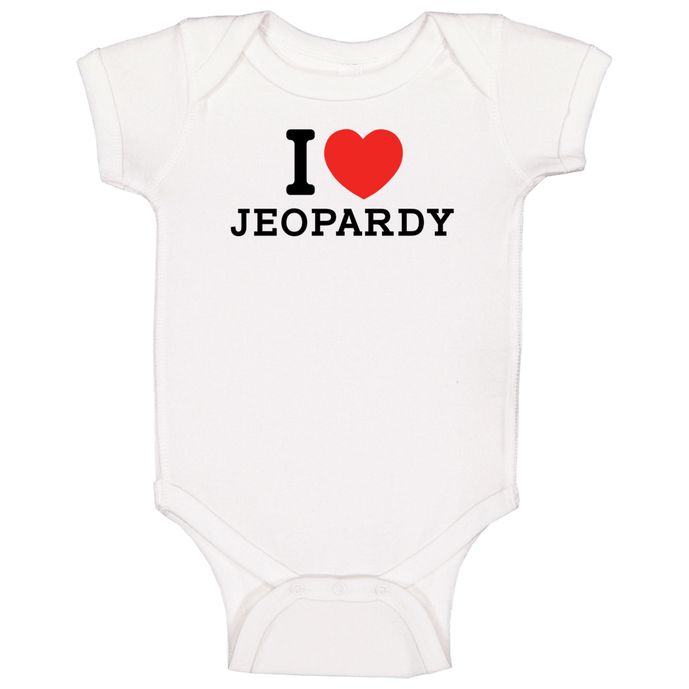 I Heart Jeopardy Video Game Classic Love Heart Baby One Piece