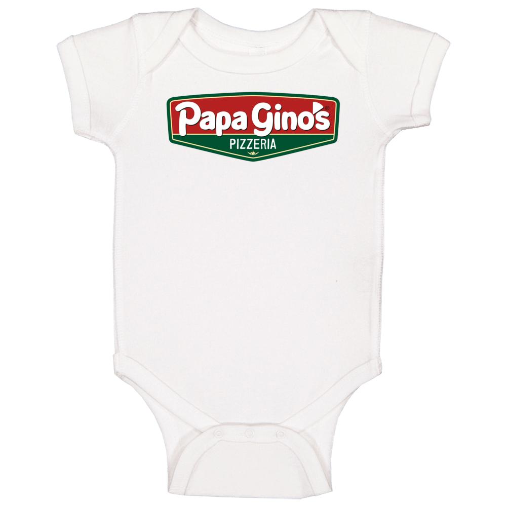 Papa Ginos Pizzeria Cool Pizza Restaurant Brand Logo Baby One Piece