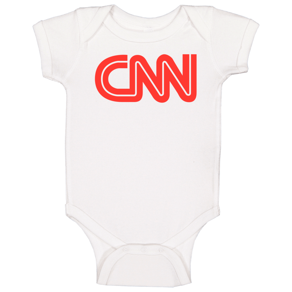 Cnn Tv Channel Cool Television Station Logo Baby One Piece