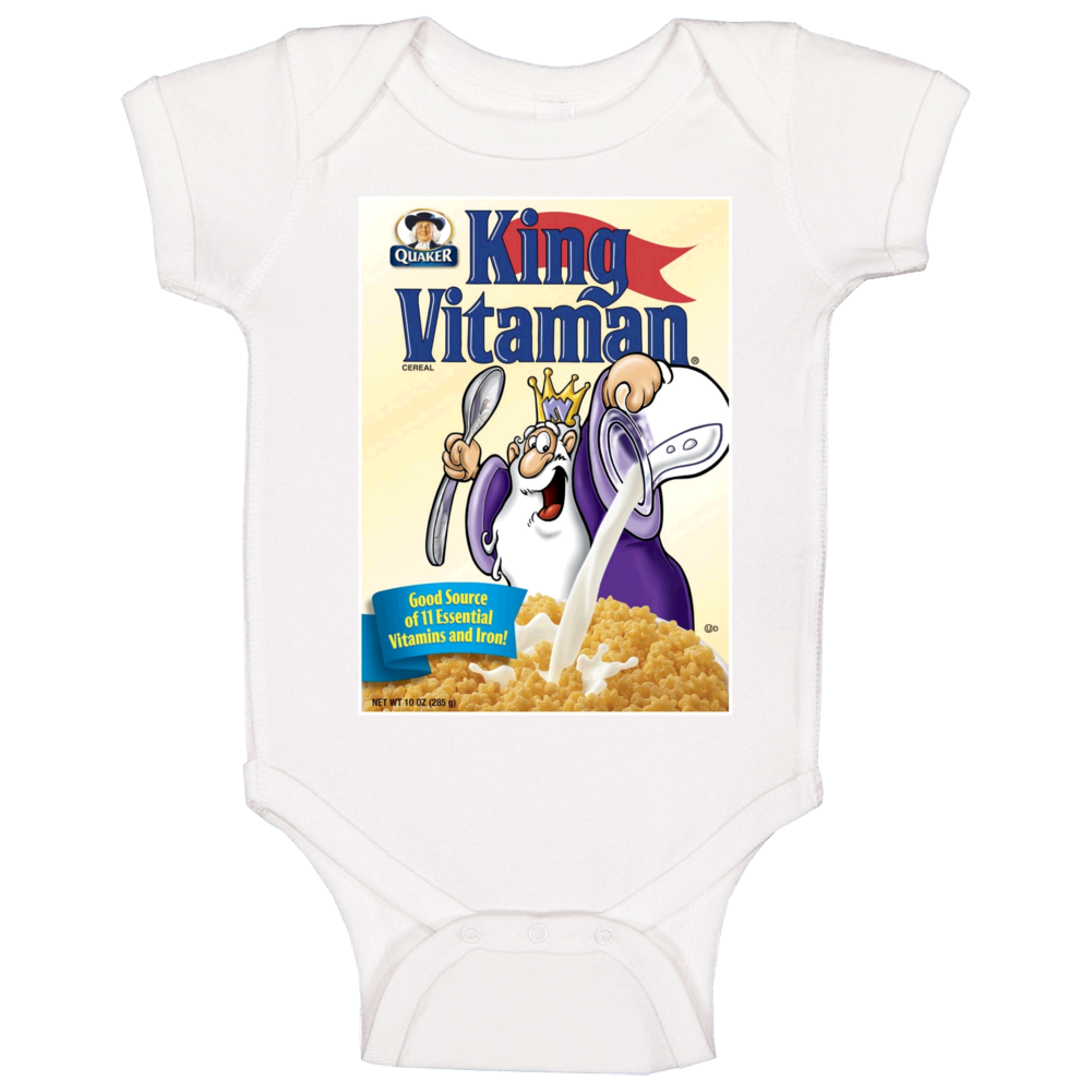 King Vitamin Retro 80s Cereal Baby One Piece