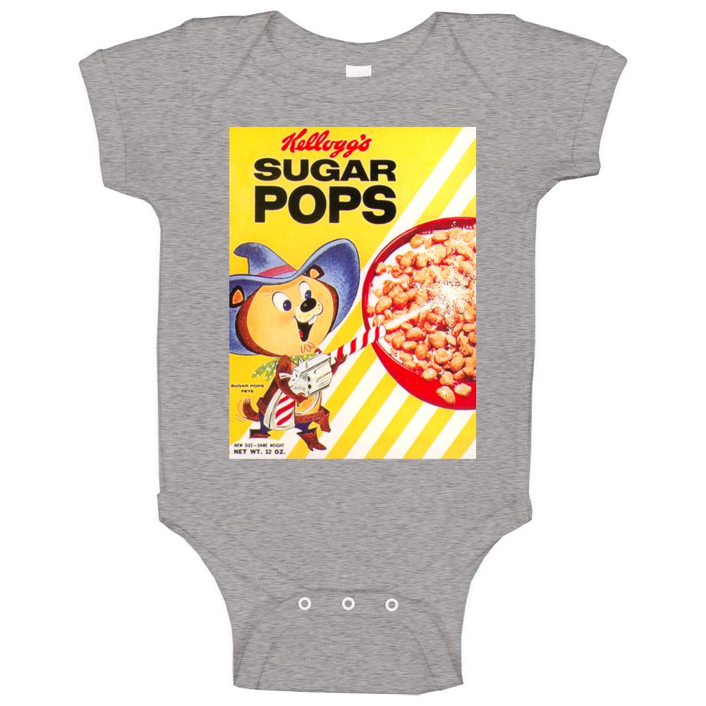 Sugar Pops Retro 80s Cereal Baby One Piece