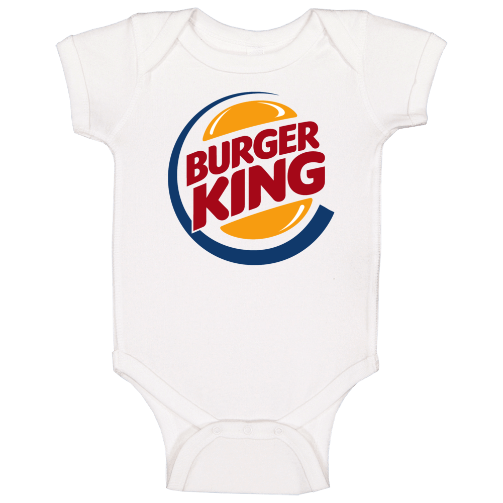 Burger King Fast Food Logo Baby One Piece