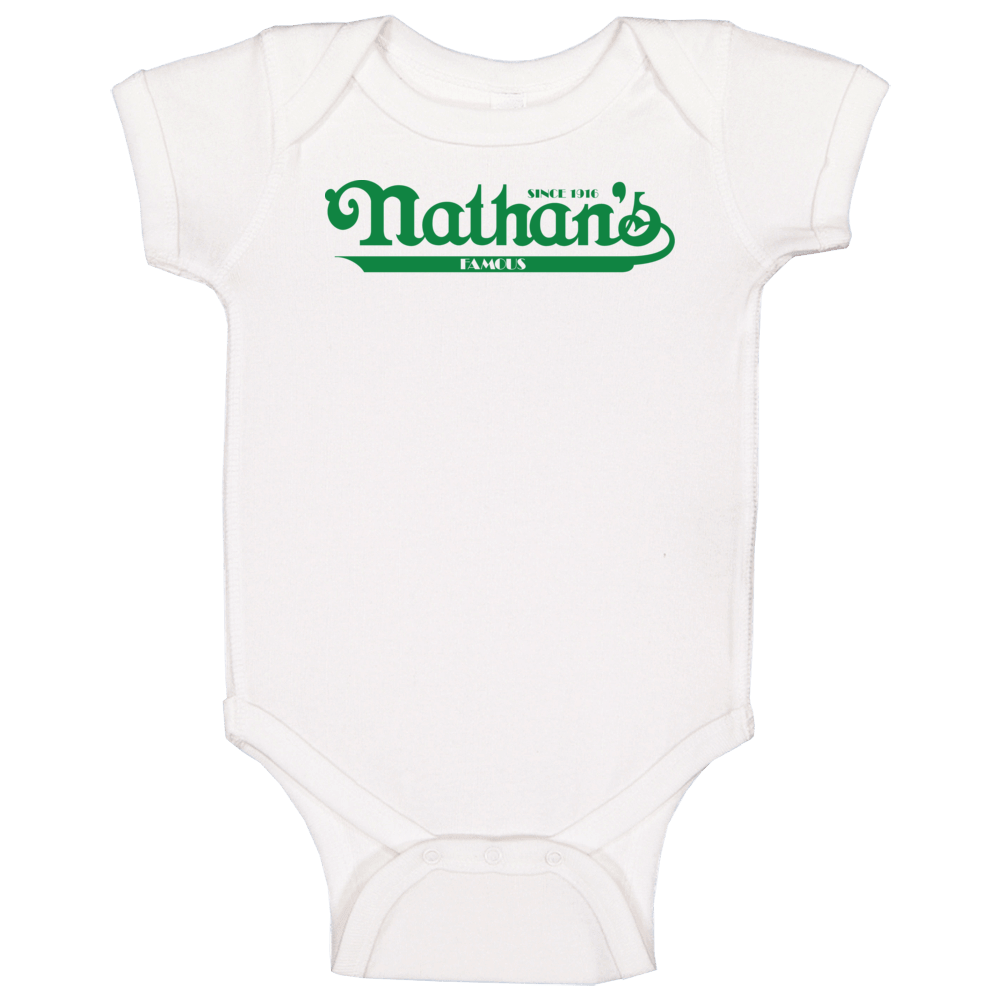Nathans Famous Hotdogs Logo Baby One Piece