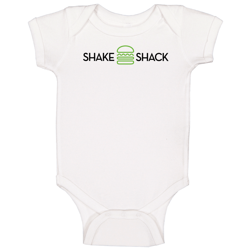 Shake Shack New York Burger Restaurant Logo Baby One Piece