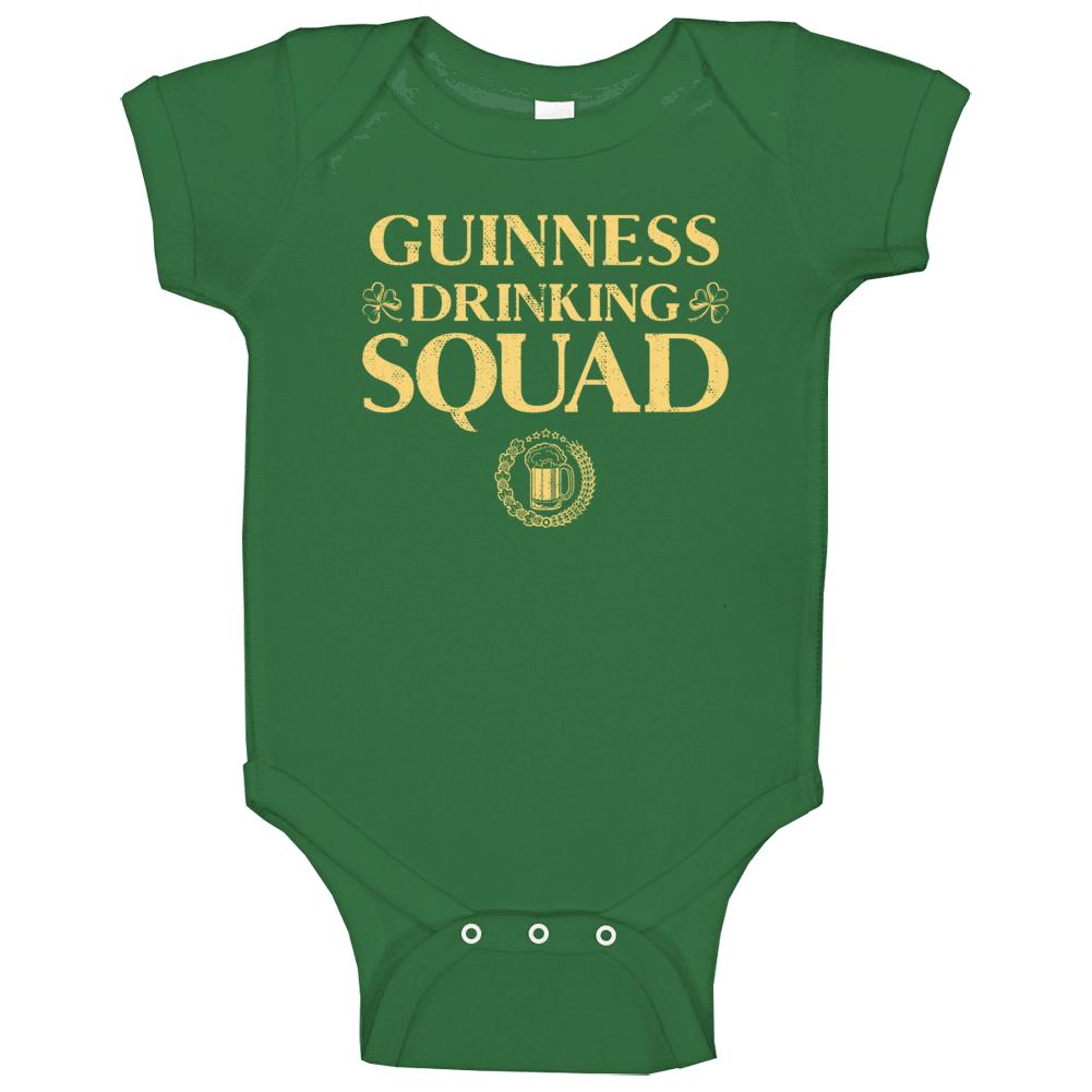 Guinness Irish Drinking Squad Beer Custom Name St Patricks Day Baby One Piece