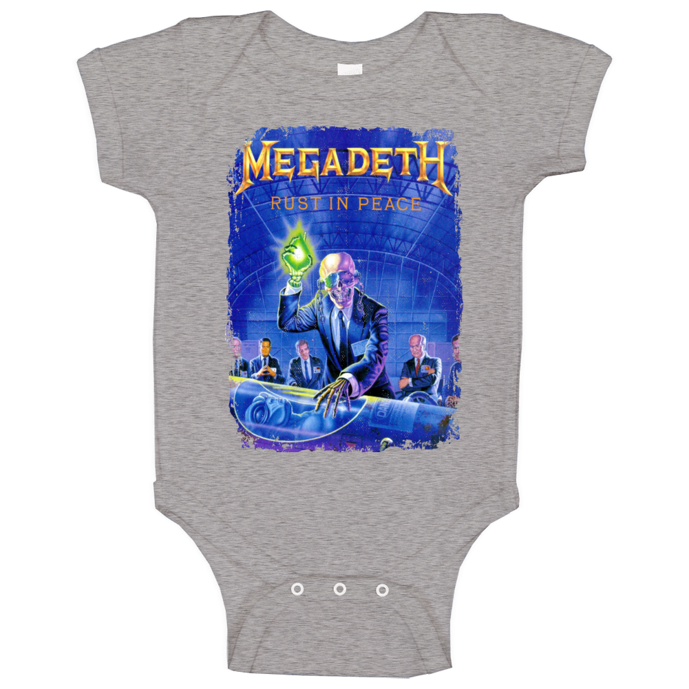 Megadeth Rust In Peace Heavy Metal Music Band Baby One Piece