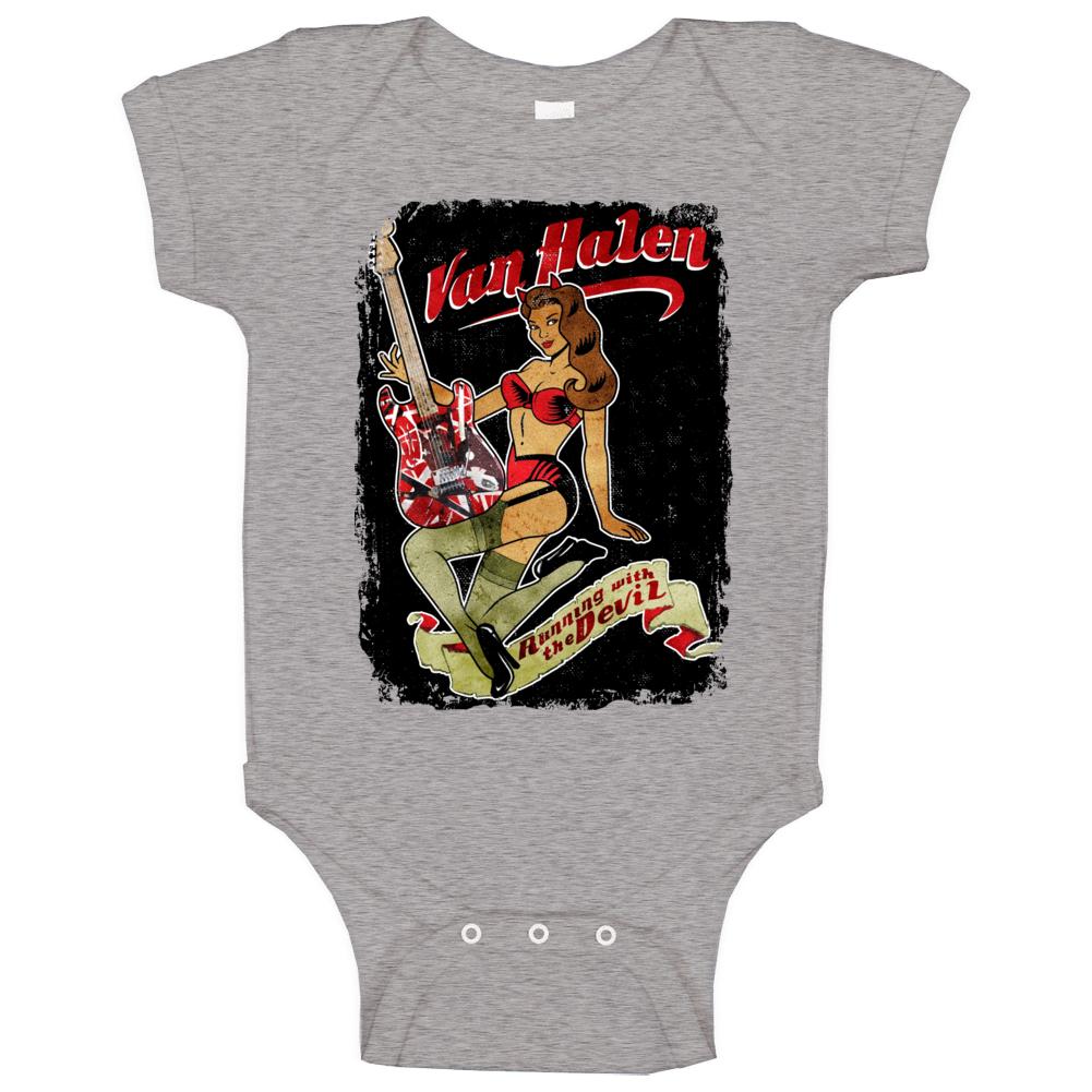 Van Halen Running With The Devil Rock Band Music Baby One Piece