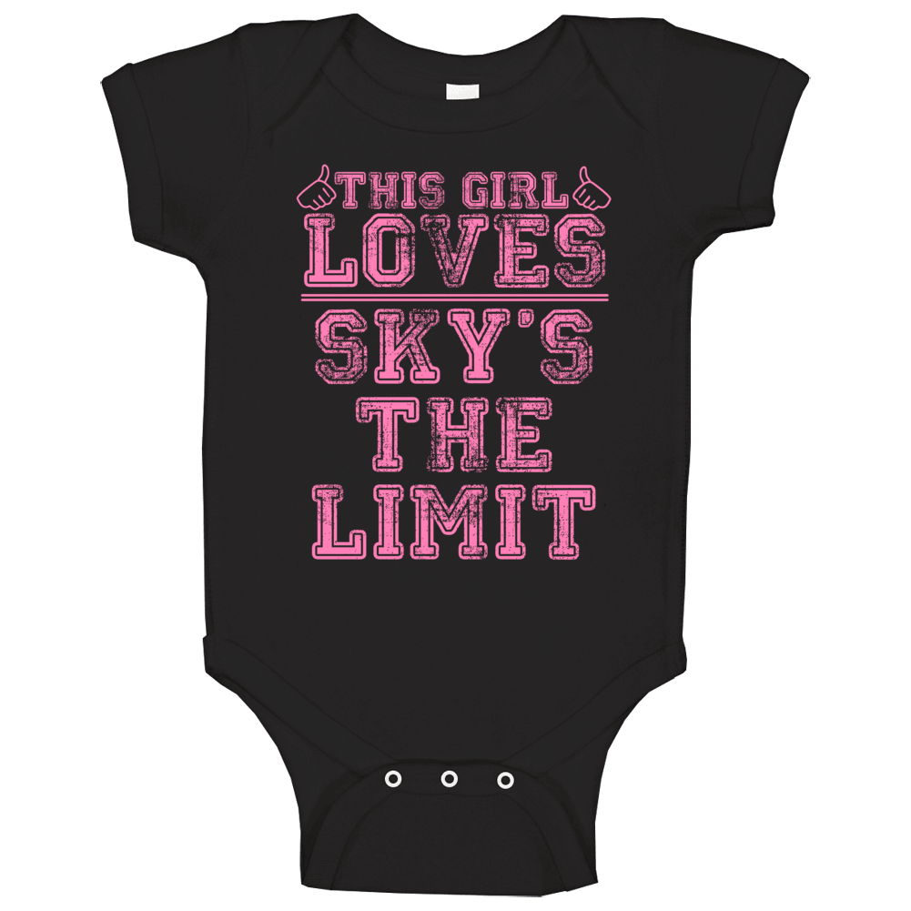 This Girl Loves Sky's The Limit Cool Hip Hop Baby One Piece