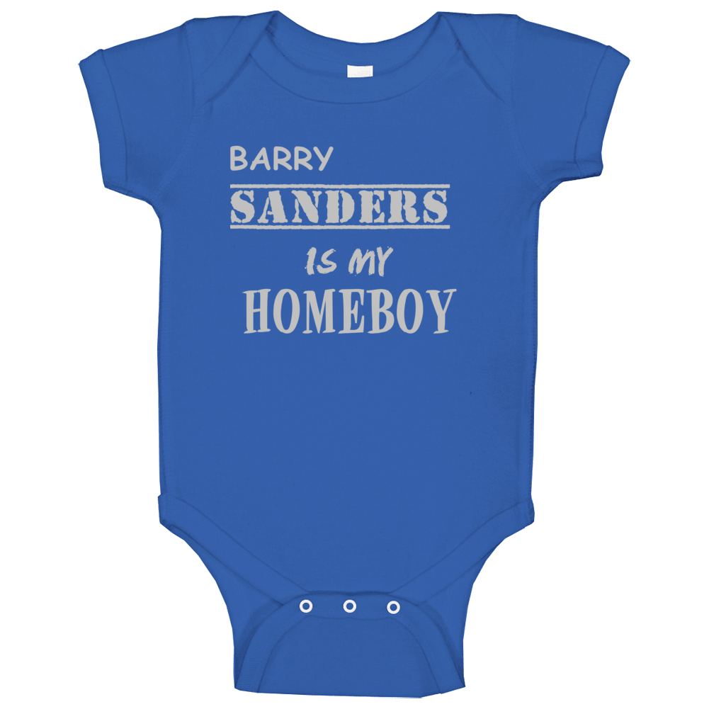 Barry Sanders Detroit Michigan Sports Homeboy Baby One Piece