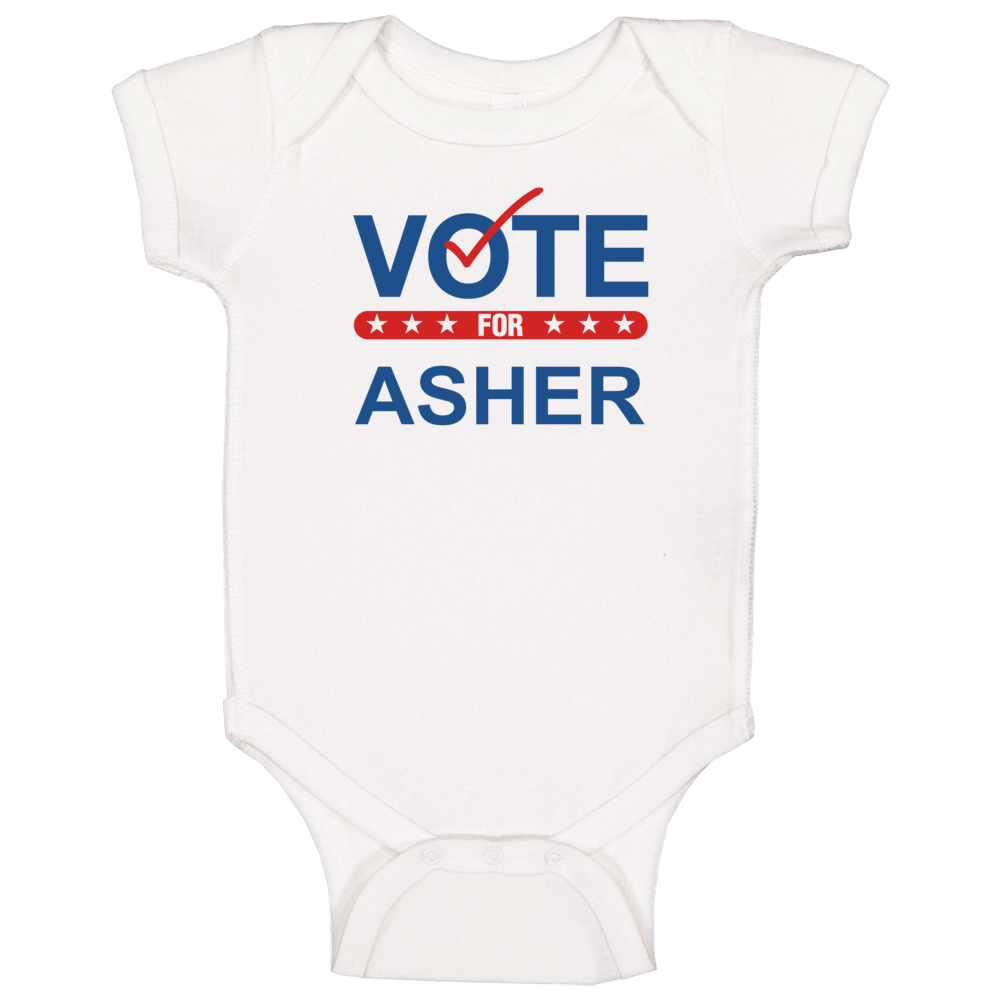 Vote For Election School Work Politics Asher Baby One Piece