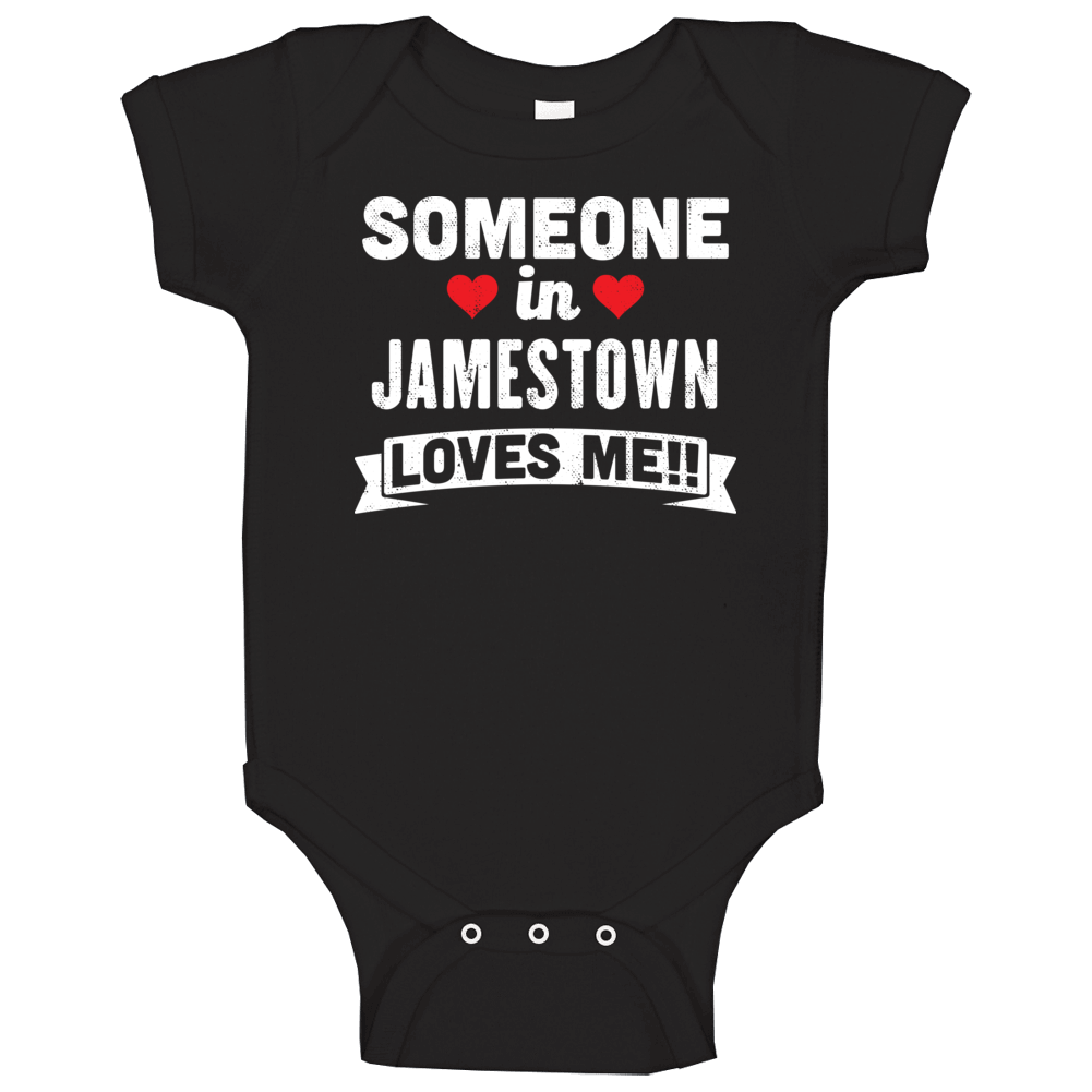 Someone In Jamestown New York Loves Me Funny Cool City Baby One Piece